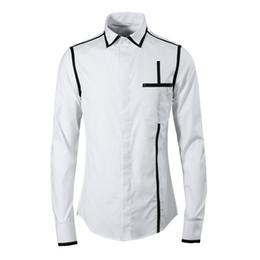 4530e984ff1d Brand Shirt Men 2018 High Quality New Cotton Chemise homme Fashion Vertical  line design black white Slim casual shirts plus size