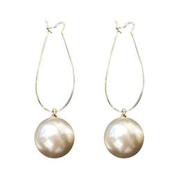 baa1c3440 Ball drop earrings sterling silver online shopping - 925 Sterling Silver  Pearl Long Dangle ear Drop