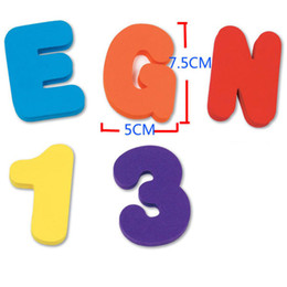 foam stickers for kids NZ - 36x Foam Letters Numbers Floating Bathroom Bath tub Toys for Baby Kids Child Toy Wall Stickers