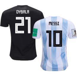 Dybala Jersey UK - World Cup 2018 Argentina Soccer Jerseys Messi Dybala Kun Aguero  Futbol Camisa 6a55bda40