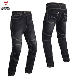 Chinese  Wholesale-Strength speed - CE gear - updated version with knee protection climbing-inspired pants motorcycle racing trousers jean manufacturers