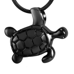Chinese  Turtle Shape Cremation Urn Necklace Stainless Steel Memorial Jewelry for Ashes Holder Keepsake Locket Funeral Urns DJX8147 manufacturers