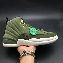 Mid Pack NZ - 2008 New Released 12 Basketball Shoes Graduation Pack Green CP3 Class of 2003 12s Brand Designer Athletic Sport Sneakers Double Boxed