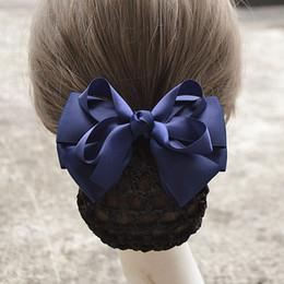 Crochet Snood Hair Net Australia - i-Remiel Hair Cover Tulle Floral Lace Satin Stylish Hair Clip Bowknot Bun Net Snood Crochet Hair Headdress Hairpin Head Jewelry