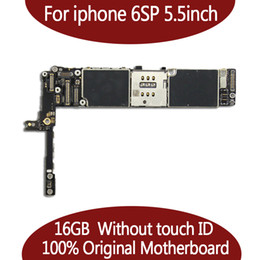 motherboards für iphone plus großhandel-Für iPhone S Plus inch Motherboard GB GB Full Chips Original IOS Unlocked Mainboard Ohne Touch ID Offizielles Logic Board