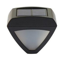 Wholesale Solar Lights Outdoor Lighting Triangle Wall Lamps Light Controlled LED Waterproof Garden Street Fencing Lights IP55 Modern