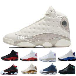 13 13s zapatos de baloncesto para hombre Phantom Hyper Royal Italia Azul  Burdeos Pedernales Chicago Bred DMP Trigo Oliva Marfil Gato Negro Hombres  Tamaño ... 9a85b611f