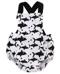 Chinese  New 2017 Brand Baby Bodysuits Spring summer Babies Newborn Cotton Body Baby Sleeveless Infant Boy Girl Sharks Clothes set manufacturers