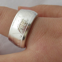 $enCountryForm.capitalKeyWord NZ - Fashion Jewelry Coin Rings Handmade from Morgan Dollar 1921 Lucy Coin Vintage Ring