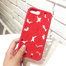 3d silicone iphone plus case online shopping - Fashion D Rose Hollow Phone Cases For Iphone X Elegant Roses Flower Soft Silicone TPU Back Cover For Iphone XR XS MAX