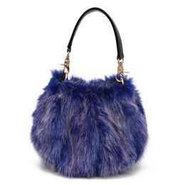 Faux Fur Bucket Bags Women Winter Plush Handbags Ladies Lantern Imitation  Rabbit Fur Messenger Bag Female Fashion Shoulder Bag b77675a3e6009