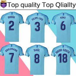 7 GRIEZMANN Madrid away blue Soccer Jersey 18 19  6 KOKE Soccer Shirt 2018   8 SAUL  18 DIEGO COSTA short sleeve football uniform Sales d3c6d3859