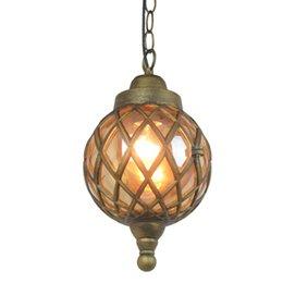 New Outdoor lampada a sospensione balcone corridoio cortile impermeabile lampada a sospensione villa gazebo uva cremagliera parco Sospensione Luce NO32