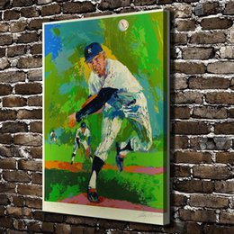 A1879 LeRoy Neiman Abstract Baseball Players HD Canvas Print Home Decoration Living Room Bedroom Wall Pictures Art Painting