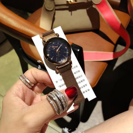 Glasses Straps NZ - 2018 Women's Watch With the popular plum glass surface, simple, stylish, versatile, 316 stainless steel strap market high-end version