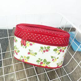 Discount handbag making kit - lovely cute printing portable large capacity women's cosmetics bag make up case wbag in bag toiletry kits handbag