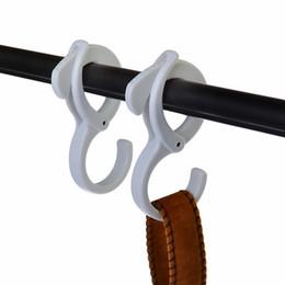 Clothes Hanging Clips Australia - 2pcs Practical S shape hooks for hanging coat hanger clip rail crossbar desk hook home organizer
