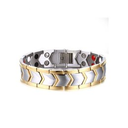 $enCountryForm.capitalKeyWord NZ - Drop shipping brand new top quality men's stainless steel bracelet magnets germanium bracelets hematite fashion jewelry factory supplier 030