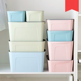 Discount clothes japan Large covered storage box wardrobe storage box plastic thickening clothing toy finishing