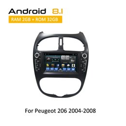 Опт Android 8.1 Octa Core автомобильный dvd gps навигация android плеер с сенсорным экраном gps для Peugeot 206 2000 2001 2002 -2008 стерео 2 din