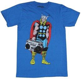 Thor (Marvel Comics) T-shirt da uomo - Thor Toting A Boombox Immagine stampata stile estivo Tees Maschio Top Fitness Brand Abbigliamento in Offerta