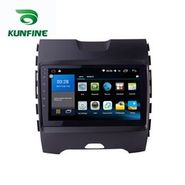 Ford Touch Screen Stereo Australia - Octa Core ISP+2.5D 32G Android 7.1 Octa Core Car DVD Player GPS Stereo Navi for Ford Eage 2015 Radio Headunit WIFI Bluetooth