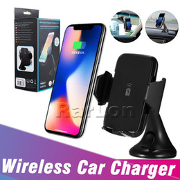 qi car dock 2020 - For Iphone X Fast Wireless Charger Car Mount Vehicle Quick Qi Wireless Charging Dock for Samsung Galaxy S10 S8 plus note