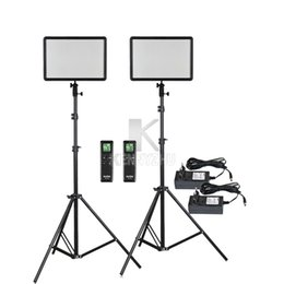 Led brightness controLLer online shopping - 2x Godox Ultra Slim LEDP260C LED Video Light Panel Lighting Kit m Stand Controller W K Dimmable Brightness
