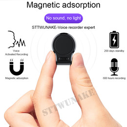 Hour recorder online shopping - STTWUNAKE Mini hidden Audio Voice Recorder hours recording Magnetic professional Digital HD Dictaphone denoise long distance