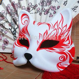 $enCountryForm.capitalKeyWord Australia - Paper Hand- painted Cosplay Mask Upper Half Face Halloween Masquerade Event Party Supplies Free Shipping