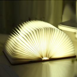 $enCountryForm.capitalKeyWord NZ - USB Rechargeable LED Foldable Book Light Desk Lamp Novelty Night Light Booklight For Home Decor Christmas Gift For Children Kids