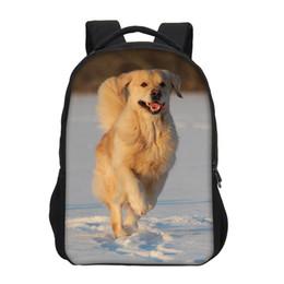 c098b638ca69 Golden backpacks online shopping - VEEVANV Brand Children School Backpack  Golden Retriever Pattern Girls Shoulder Bags