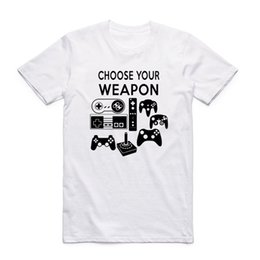 $enCountryForm.capitalKeyWord Canada - Tamaño asiático impresión elija su arma T-shirt verano Casual o-cuello manga corta Gamer juego de vídeo camiseta HCP4247