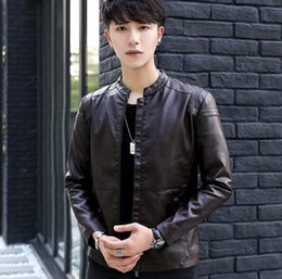 Korean Motorcycle Jacket Australia - Man's autumn winter Korean version of the new boutique personality fitness style handsome fashion motorcycle jacket   M-3XL