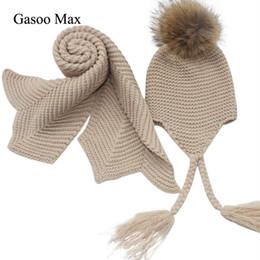 Sciarpe e cappelli lavorati a maglia per bambini invernali e cappelli di  lana lavorati a maglia 2e2b18e1c227