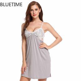 1a27d9884a Sexy Women Summer Nightgown Night Dress Nightwear Lady Adjustable Spaghetti  Straps Lace Nightie Sleepshirts Nuisette 30A