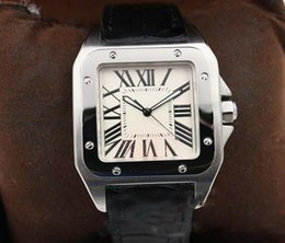 Skeleton watcheS leather Strap online shopping - hot sale mens watch Automatic Mechanical White Dial Silver Skeleton Leather strap Square dial watch Monor Hemmo
