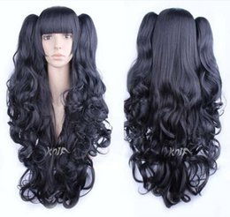 wire wigs 2019 - Ly & CS cheap sale dance party cosplays>>>Beautiful Fashion wig High Temperature Wire wig Hair Black Double Jaw