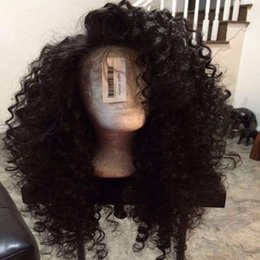 Discount synthetic afro hair braid Freeshipping US hair style afro kinky curly can braided lace front wigs baby hair synthetic lace front wig heat resistan