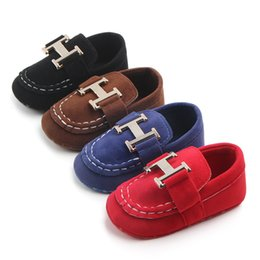 Wholesale Newborn Baby Boys Classic Handsome First Walkers Shoes Baby Infant Toddler Soft Soled Shoes color selection