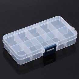 Medicine storage case online shopping - 10 Lattice Manicure Box Component Container Part Case Removable Jewelry Cases Medicine Containers Plastic Storage Boxes lw gg