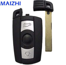 Key Shell Case For Bmw Australia - maizhi Remote 3 Buttons Car Key Shell Case Cover for BMW 1 3 5 6 7 Series E90 E91 E92 E60 Smart Key Shell FOB Styling