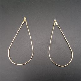 Copper earring Clasp online shopping - 50pcs mm Big Water Drops Shape Earring Pendant DIY Earring Finding