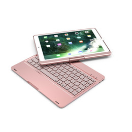 $enCountryForm.capitalKeyWord NZ - Wireless Bluetooth Aluminum Keyboard Case 360 Degree Keyboard 7 Color Backlit for ipad air air2 pro9.7 2017 new ipad 2018 new ipad