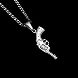 silver chain designs for man 2019 - 2018 New Design Titanium Steel Gun Pendant Necklace Hip Hop 92 pistol Pendants Vintage Roscoe Gun Necklaces For Men Wome