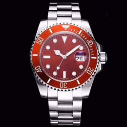 orange bezel Canada - Hot high quality Ceramic Bezel sapphire luxury Mens SUB diving watch Stainless Steel Automatic Watches master Wristwatches boxes best gift