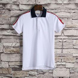 0e9ebd1f 2018 Italy designer polo shirt t shirts Luxury Brand snake bee floral embroidery  mens polos High street fashion stripe print polo T-shirt