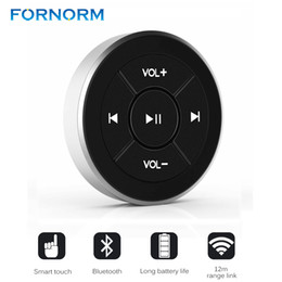 Tablet Wireless Controller Australia - Wireless Bluetooth Media Button Remote Controller Car Motorcycle Bike Steering Wheel MP3 Music Play for iOS Android Phone Tablet