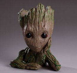 wholesale gift boxes europe Australia - Guardians of The Galaxy 15cm Baby Groot Figure Flowerpot Toy Flower Pen Pot Xmas Gift