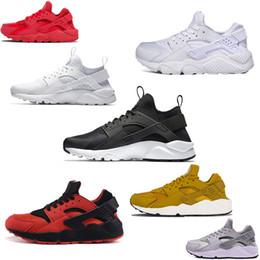 cd2e22ae563b nike air huarache Venta al por mayor Huarache 1 4 Triple Blanco Negro Rojo  Gris para hombre Zapatillas de correr Ultra Run zapatillas Huaraches  Zapatos ...